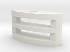 Narrow Gauge Pin coupling socket in White Natural Versatile Plastic