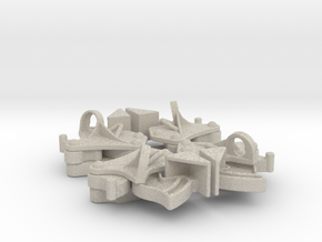 Hopper pocket latches (4) in Natural Sandstone