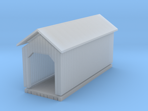 'N Scale' - Covered Bridge in Smooth Fine Detail Plastic