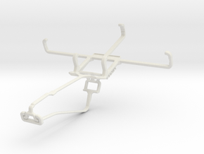 Controller mount for Xbox One Chat & Kyocera DuraF in White Natural Versatile Plastic