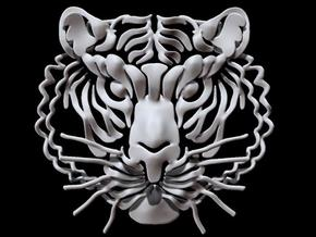 Tiger's head in White Natural Versatile Plastic
