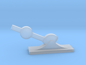 7mm scale small point lever in Smooth Fine Detail Plastic