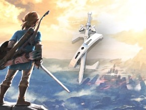 Zelda Breath Of The Wild in Polished Silver