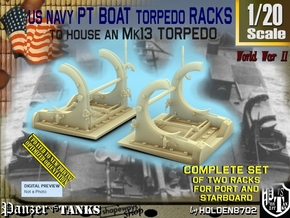1/20 PT Torpedo Rack TypA in Smooth Fine Detail Plastic