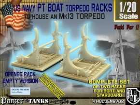 1-20 PT Torpedo Rack TypC Empty in Smooth Fine Detail Plastic