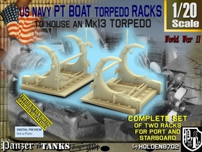 1/20 PT Torpedo Rack TypD in Smooth Fine Detail Plastic