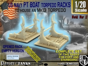 1/20 PT Torpedo Rack TypE Empty in Smooth Fine Detail Plastic