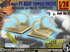 1/24 PT Torpedo Rack TypF in Smooth Fine Detail Plastic