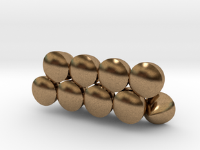 Solids Of Constant Width (1cm) in Natural Brass: 1:16