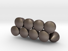 Solids Of Constant Width (1cm) in Polished Bronzed Silver Steel: 1:16