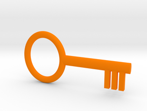 Key, Basic Toy in Orange Processed Versatile Plastic