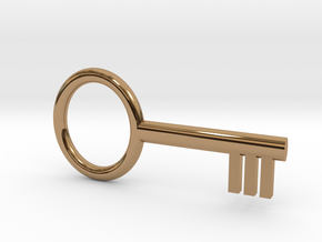 Key, Basic Toy in Polished Brass