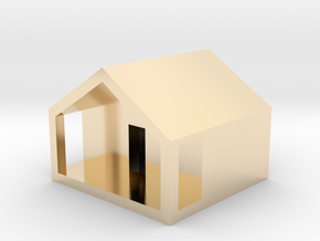 Monopoly Cottage in 14K Yellow Gold