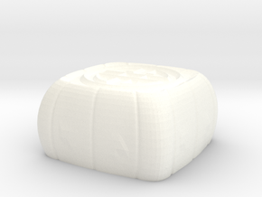 lunar cake keycap - cherryMX in White Processed Versatile Plastic