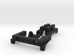 SCX10 Adjustable Rear Leaf Spring Combo in Black Strong & Flexible