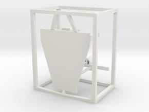 Bridge Roof equipped 1/50 fits Harbor Tug in White Natural Versatile Plastic