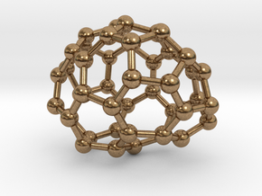 0642 Fullerene c44-14 c1 in Natural Brass