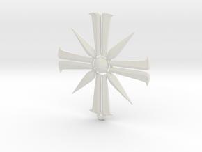 Far Cry 5 Eden's Gate pendant in White Premium Versatile Plastic