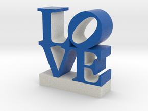 Love-Blue&White 033018 shell 0.5 in Full Color Sandstone