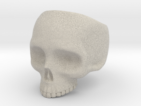 Skull Ring v3 - Size 6 in Natural Sandstone