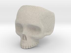 Skull Ring v3 - Size 6 in Natural Sandstone