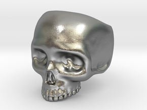 Skull Ring v3 - Size 6 in Natural Silver