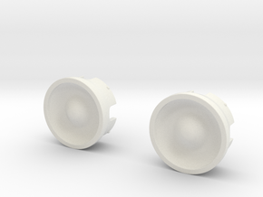 Wheel-cap-set-2 in White Natural Versatile Plastic