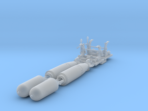 1-72 Torpedo Mk13 W Rack For PT Boat Set005 in Smooth Fine Detail Plastic