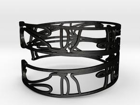Personalised Mirrored Name Bracelet (004) in Matte Black Steel