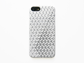 iPhone 7 & 8 Case_Geometric in White Processed Versatile Plastic