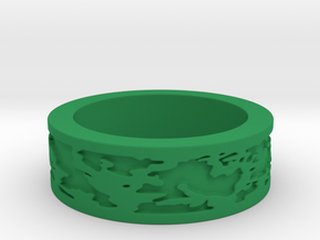 Camo Ring Size 7 in Green Processed Versatile Plastic