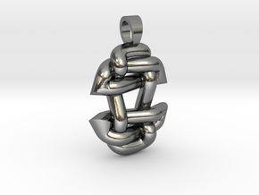 Asiatic style knot [pendant] in Polished Silver