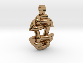 Asiatic style knot [pendant] in Polished Brass