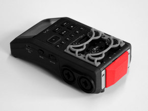 Zoom H6 protective cap - main unit in Red Processed Versatile Plastic