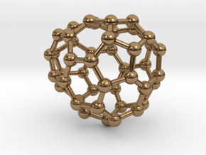 0646 Fullerene c44-18 c1 in Natural Brass