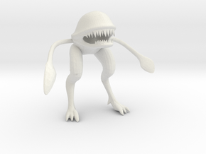 Wild Alien in White Natural Versatile Plastic