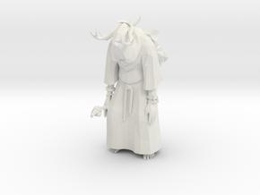 Tribal Eldar in Robe  in White Natural Versatile Plastic
