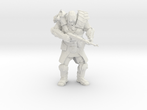 Wasteland Heavy Muscled Bandit with Smg in White Natural Versatile Plastic