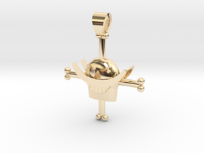 White Beard symbol from One Piece [pendant] in 14k Gold Plated Brass