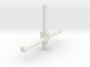 Derelict-Beacon Laser Turret  in White Natural Versatile Plastic