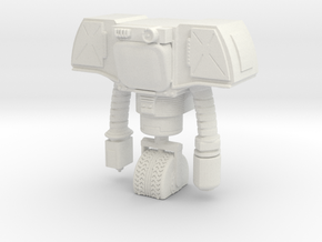 Security Bot with Blank Face in White Natural Versatile Plastic