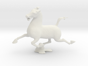 Flying Horse of Kantsu in White Natural Versatile Plastic: Small