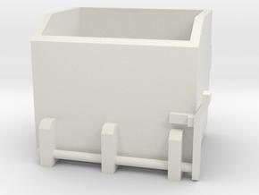 1/16 rock box - front mount  in White Natural Versatile Plastic