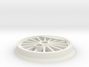 Gauge 1 BR55 Driving Wheel in White Natural Versatile Plastic