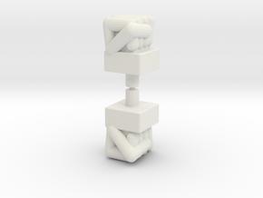 Biotron Bopper Fists in White Natural Versatile Plastic