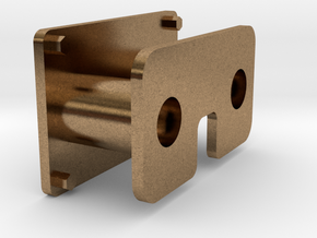 Buffer coupling for 16mm-scale industrial locos in Natural Brass