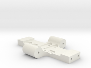 Losi Base Plate with upgrade in White Natural Versatile Plastic