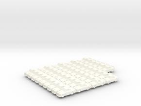 NASCAR trucks 25mm (42 pcs) in White Processed Versatile Plastic