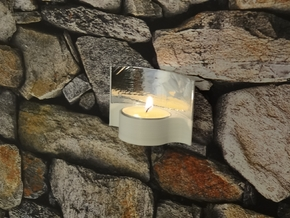 Tealight Candle Holder in White Processed Versatile Plastic