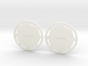 Flasque de roue pour MAN - MAN Truck rear wheel co in White Processed Versatile Plastic